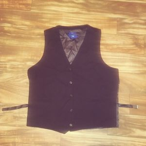 Men egara slim fit 2xlt vest black